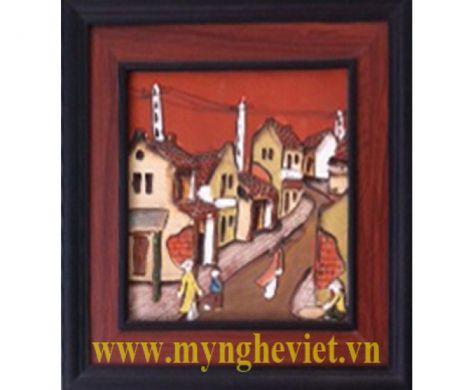 Tranh gốm cảnh thành phố MNV-TG002