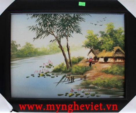 Tranh sứ đồng quê (38 x 48) MNV-TG004