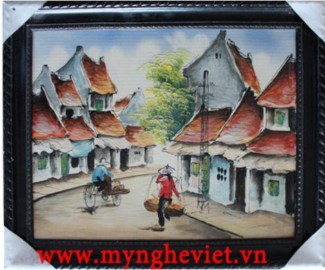 Tranh gốm đồng quê (38 x 48) MNV-TG004/2