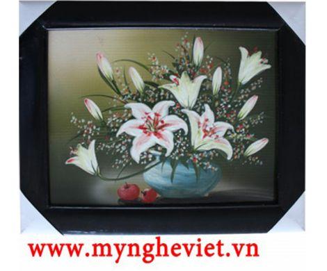 Tranh sứ hoa ly MNV-TG004/3
