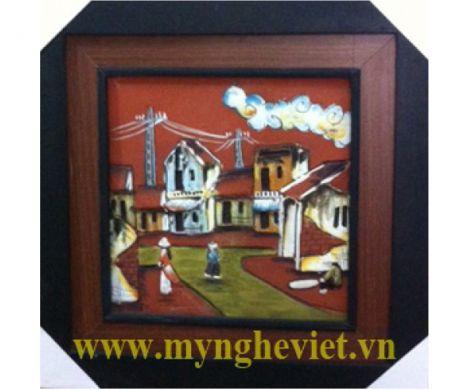 Tranh gốm làng quê MNV-TG005/2