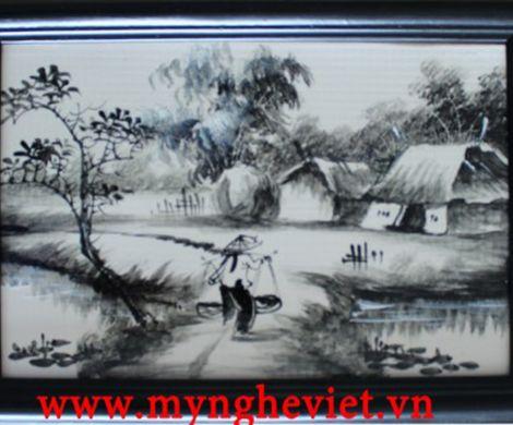 Tranh sứ đen trắng MNV-TG007 (25 x 35)