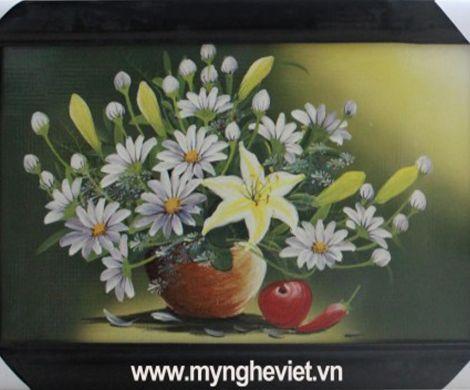 Tranh gốm hoa ly ly MNV-TG010/3