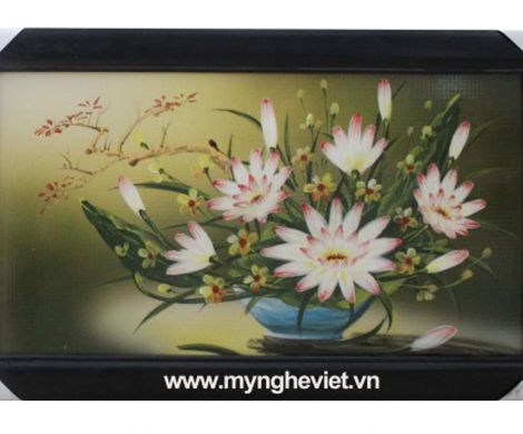 Tranh hoa cúc trắng MNV-TG010/1