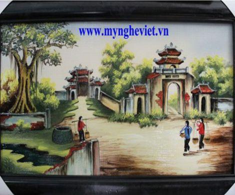 Tranh gốm cảnh đồng quê MNV-TG012/2